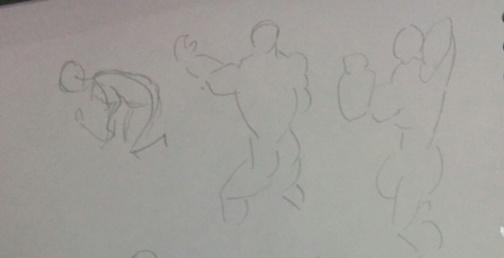 ポーズマニアックスで人体を描く練習