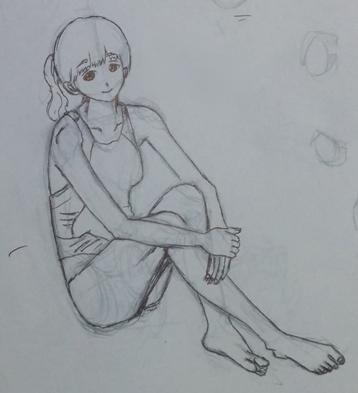 写真模写で人体を描く練習